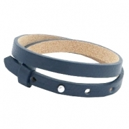 Lederarmband dark midnight blue doppelt