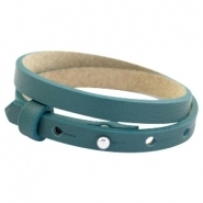 Lederarmband night tide green doppelt