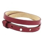 Lederarmband tawny port red doppelt