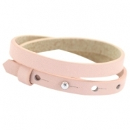 Lederarmband powder rose doppelt